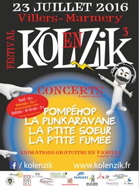 Pompéhop en concert au festival Kolenzik à Villers-Marmery (51) !
